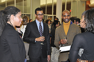More than 150 students attended a networking event and panel discussion hosted by the Office of Career Services.